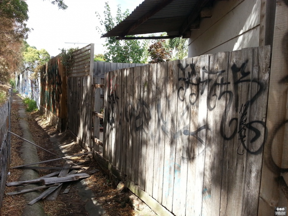 Old Fence From Laneway